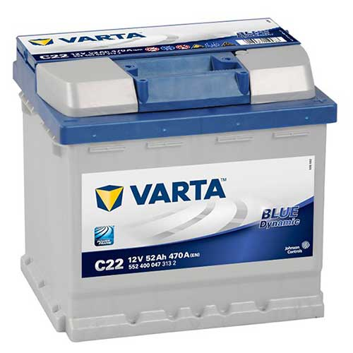 BATTERIA VARTA C22 52Ah 470A 12V Dx